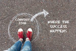 sortir de sa zone de confort est une motivation pour se lancer en blogging pro