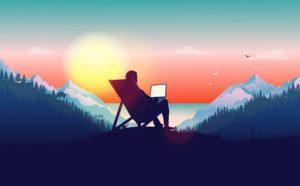 être un blogueur pro signifie être libre de travailler où et quand on veut